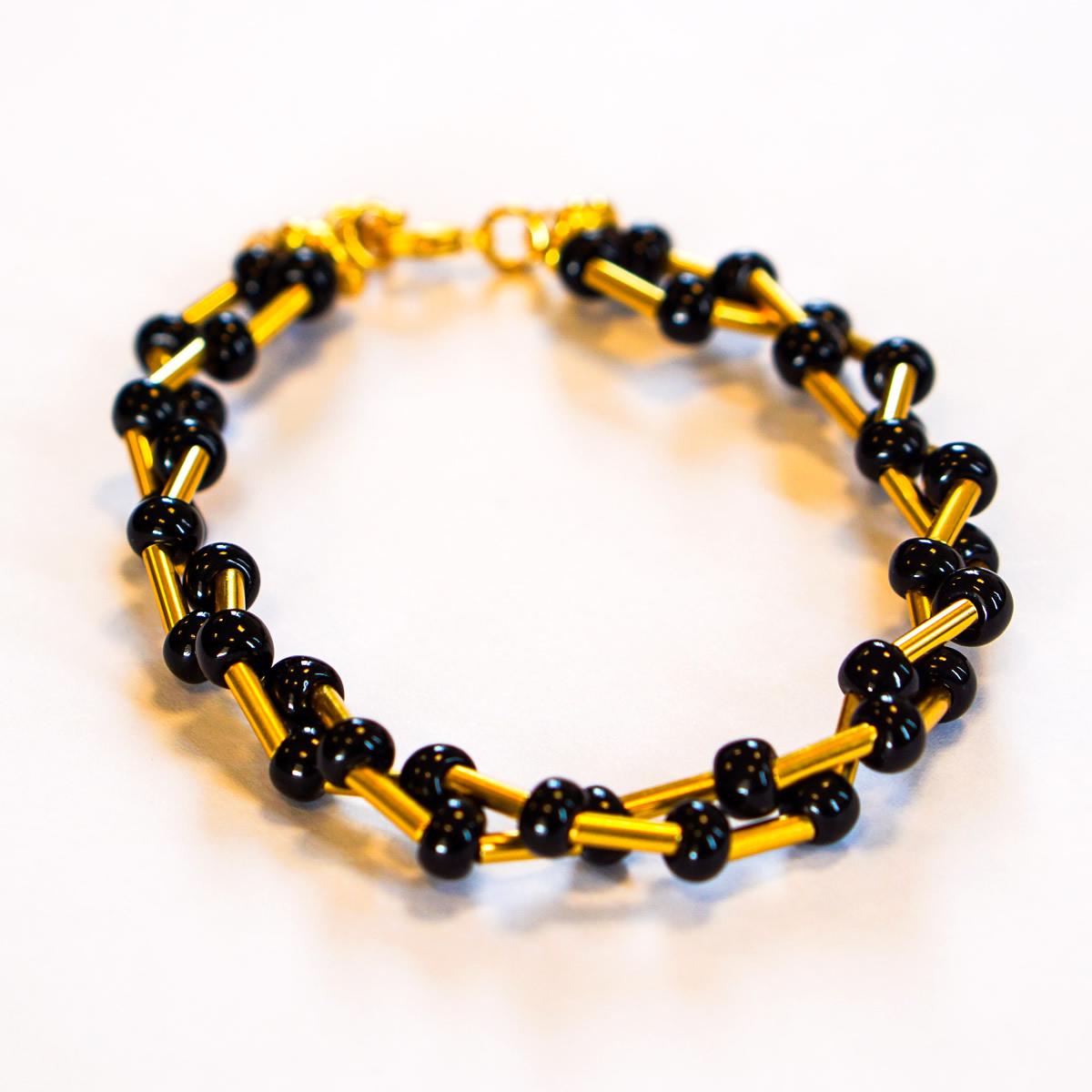 Pre Columbian Black Coral Twisted Bracelet