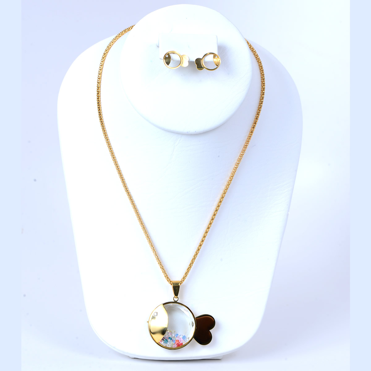 Adorable Fish Necklace and Earrings Set