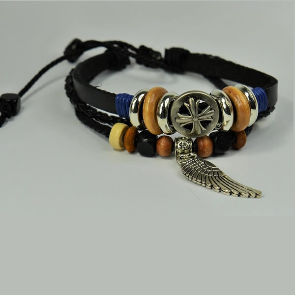 LEATHER Stainless Steel friendship Bracelet