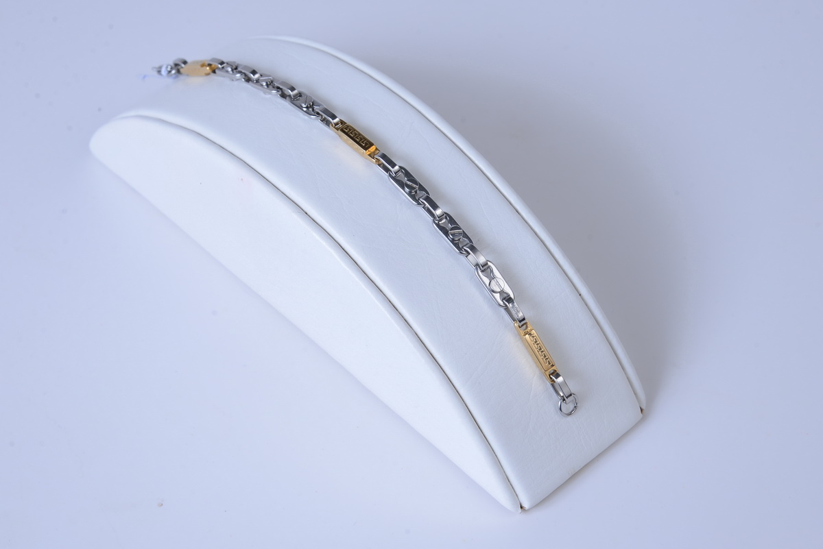 Unique Fashion Silver Gold tone Stainless Steel Men's Bracelet