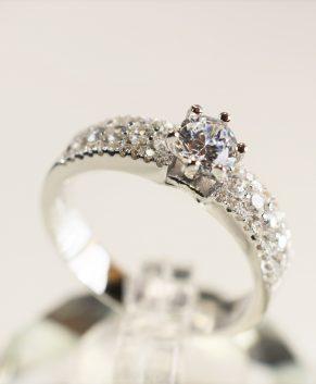 Zilveren Verlovingsring met Zirkonia