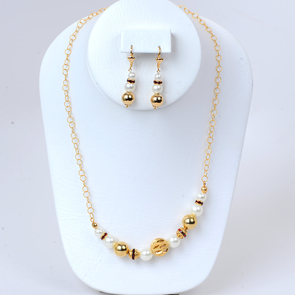 Modern Pearlesque Long Necklace