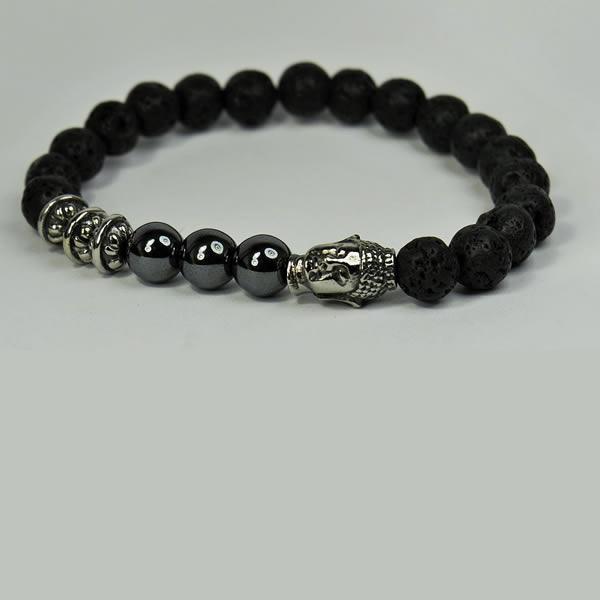 Lava Onyx Budha Bracelet