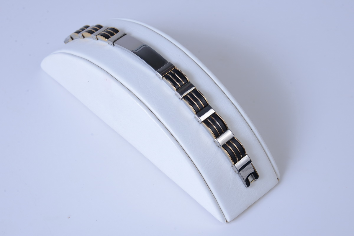 Stainless Steel Baraka Bracelet with Gold tone