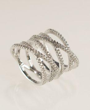 Zilveren infinite ring