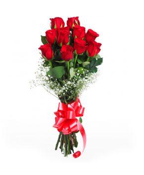 Boeket 10 rode rozen